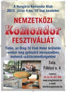 A komondor fesztivál plakátja